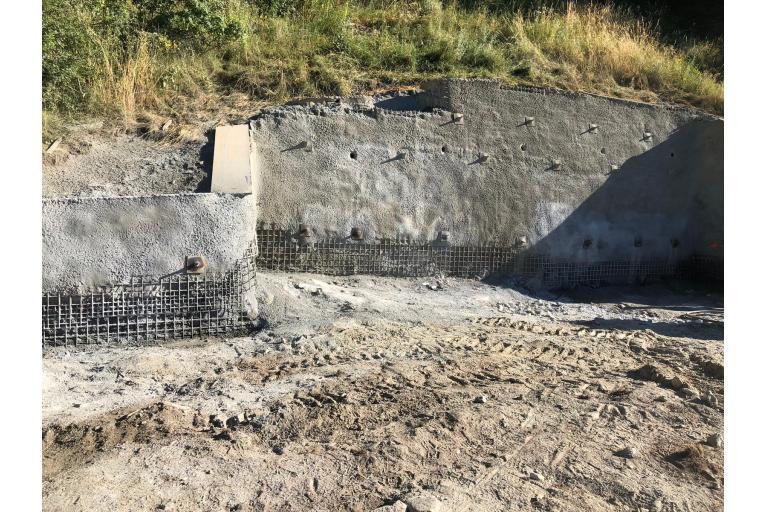 Baugruben Aushub und Sicherung
