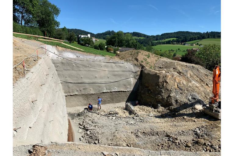 Baugrubenaushub St.Gallen
